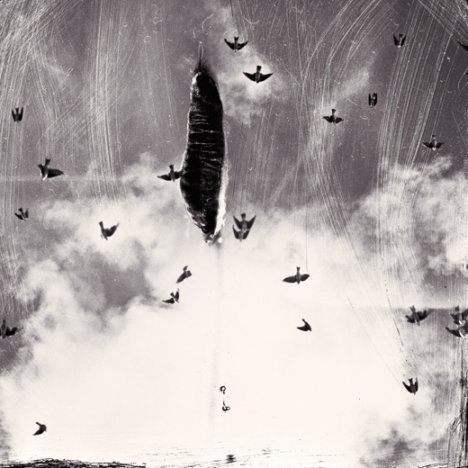 """""""Little Birds, 2014"""" from the series Notes on a Paper Universe, gelatin silver print by Michael Donnor (courtesy of the artist and Panopticon Gallery, Boston)"""