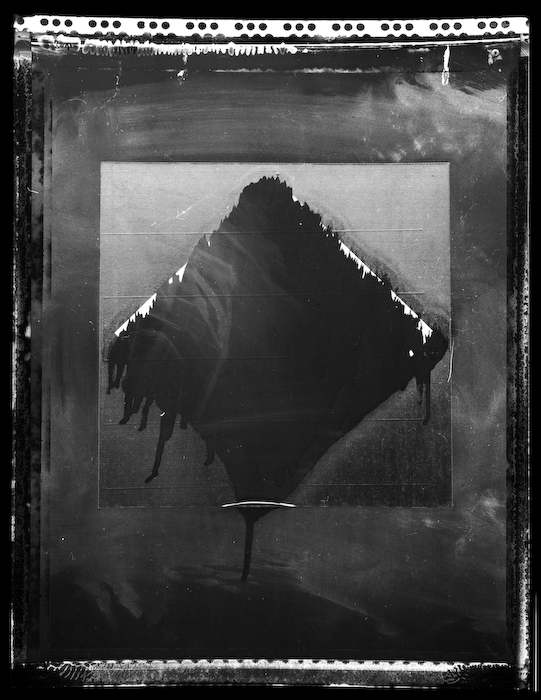 """""""Blacked Out Polaroid Sign #1, 2011"""" gelatin silver/Polaroid Type 55 negative, archival inkjet print, from the series """"On Polaroid"""" by Samuel Walker, winner of the Griffin Award (courtesy of the artist)"""