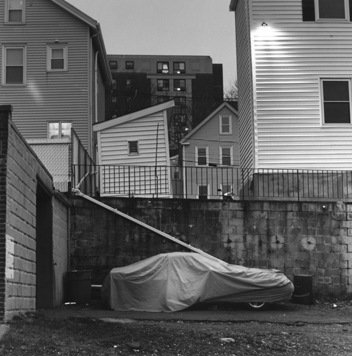 """Parked in Chelsea, 2014"" gelatin silver print by Cori DiPietro  (courtesy of the artist and Stone Crop Gallery, York, Maine)"