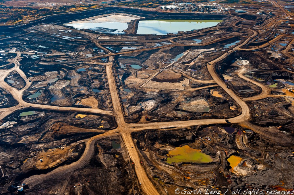 "Tar Pit #3, Alberta Tar Sands, 2010"" archival pigment print bonded to aluminum by Garth Lenz (courtesy of the artist and 555 Gallery, Boston)"