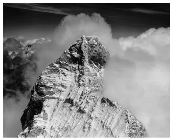 Negative # 4081: Top of Matterhorn, 1958  4x5 vintage contact print by Bradford Washburn Courtesy of Panopticon Gallery, Boston