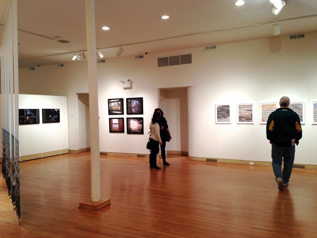 "Installation shot of the Stella Collective show, ""The Nature of a Collective"" at UIMA in Chicago (photo by Elin Spring)"