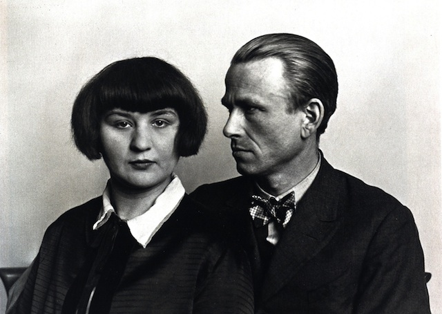 """""""The Painter Otto Dix and his Wife, 1928"""" from the series """"People of the 20th Century"""" by August Sander (courtesy of the Art Institute of Chicago)"""