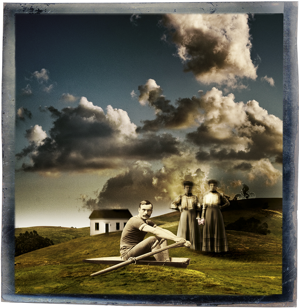 """""""The Rower, 2010"""" archival pigment print by Fran Forman (courtesy of the artist and Pucker Gallery, Boston)"""