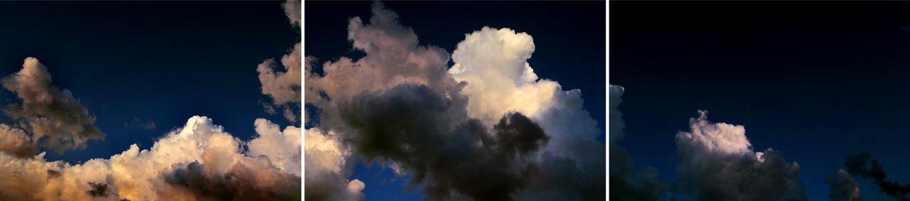 """Storm Cloud Over Boston Harbor Dark Sky"" by Jeffrey Heyne (courtesy of the artist and 555 Gallery, Boston)"
