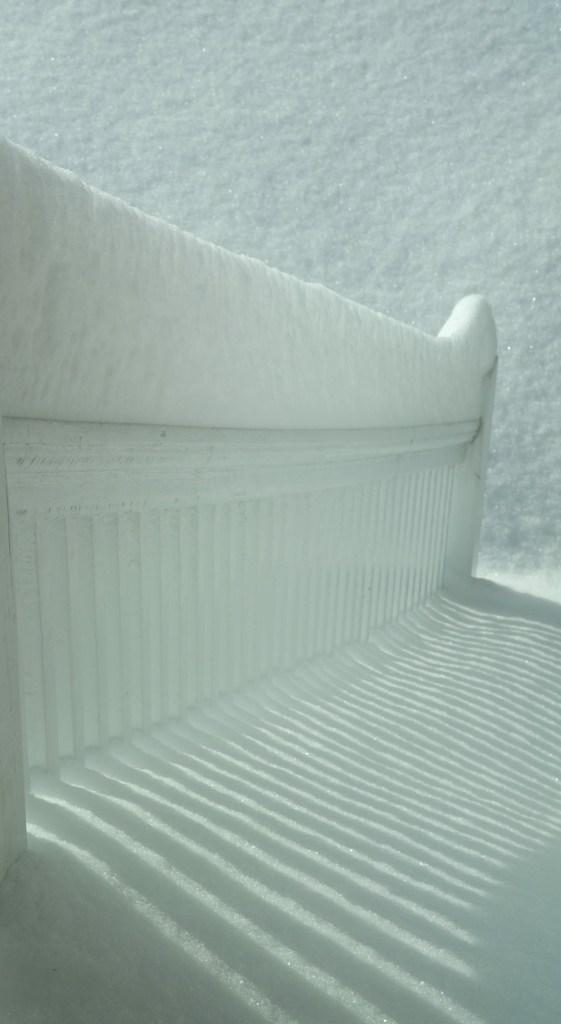 """""""Blizzard Aftermath (Snowy Rail), 2015"""" by Elin Spring"""