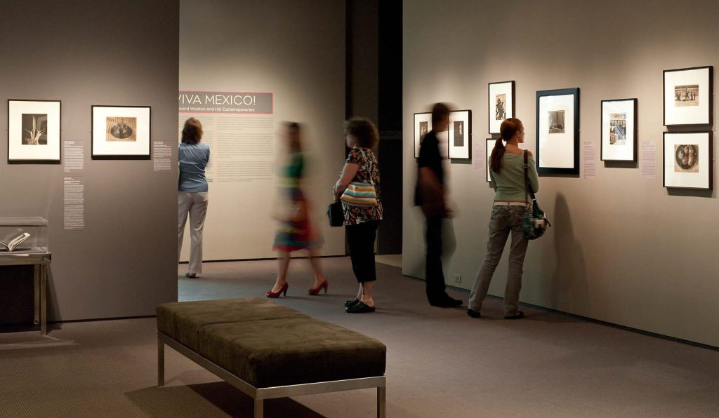 """Installation view of the MFA, Boston exhibition """"Viva Mexico: Edward Weston and his Contemporaries"""" in 2009, curated by Karen Haas."""