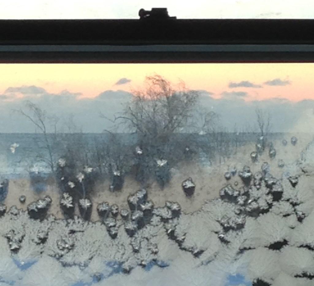 """""""Winter Window Sunrise, 2015"""" by Elin Spring"""