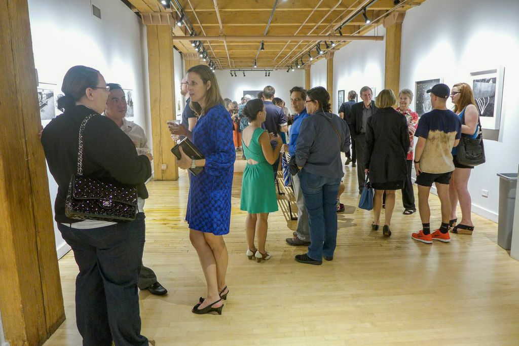 Filter Photo Juried Exhibition opening at David Weinberg Photography in Chicago's River North gallery district (photo by Tanner Young).