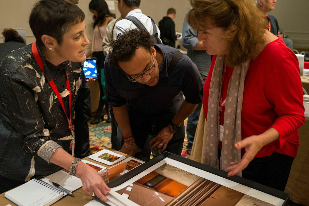 Barbara Karant, Carlos Javier Ortiz and Mary Virginia Swanson at Filter Photo Festival (photo by Jeff Phillips).