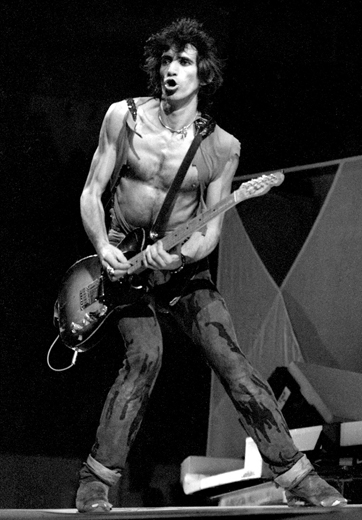 """""""Keith Richards, Hartford Civic Center, 1981"""" by Ron Pownall (courtesy of the artist and Panopticon Gallery, Boston)"""