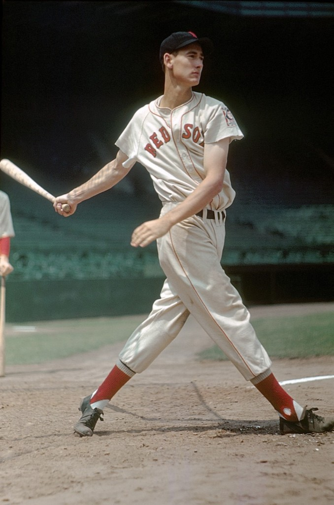 """The Swing"", photograph of Boston Red Sox legend Ted Williams by Arthur Griffin (courtesy of the Griffin Museum)"