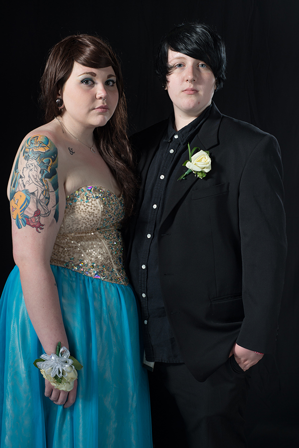"""Keiran and Cassandra, 2014/2015"" from the series ""BAGLY Prom"" by Zoe Perry-Wood (courtesy of the artist and Gallery Kayafas, Boston)"