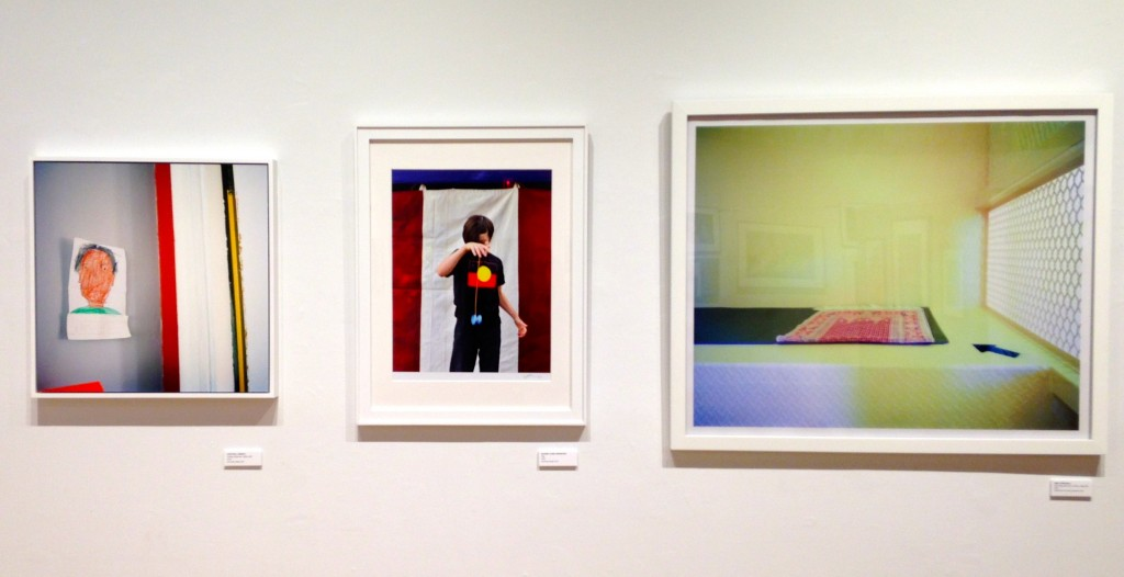 Installation view showing the diverse ways in which (L to R) Cristina Llerena, Sandra Chen Weinstein and Debi Cornwall approach documentary portraiture (courtesy of the artists).