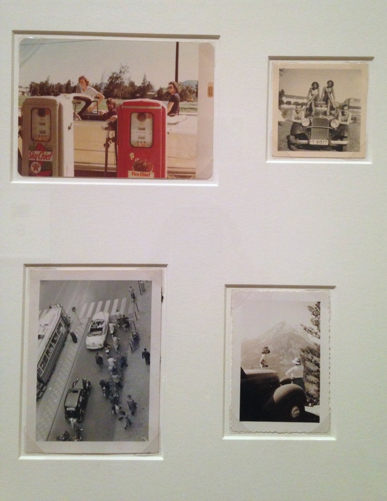 """Installation view of """"Automobiles"""" from """"Unfinished Stories: Snapshots from the Peter J. Cohen Collection"""" at MFA, Boston (photo and apologies from Elin Spring)"""