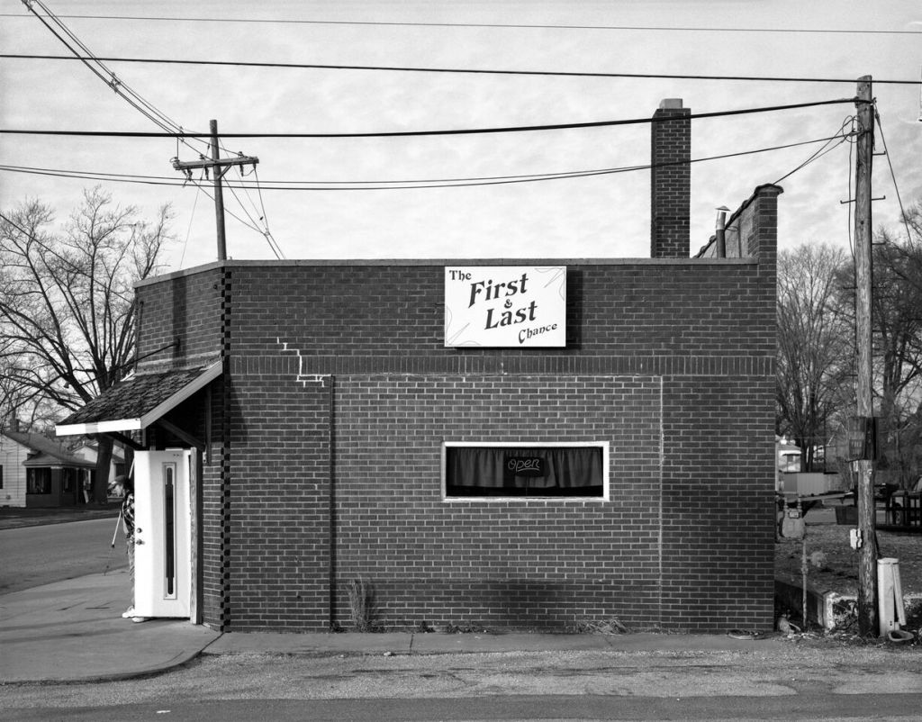 """""""First and Last Chance, Boonville, IN, 2008"""" by Timothy Briner (courtesy of the artist and Gallery Kayafas, Boston)"""
