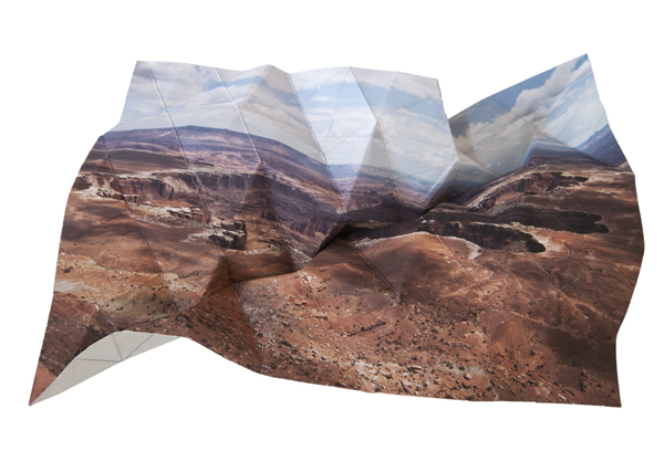 """Mountains + Valley (Canyonlands #1), 2013"" by Millee Tibbs (courtesy of the artist)."