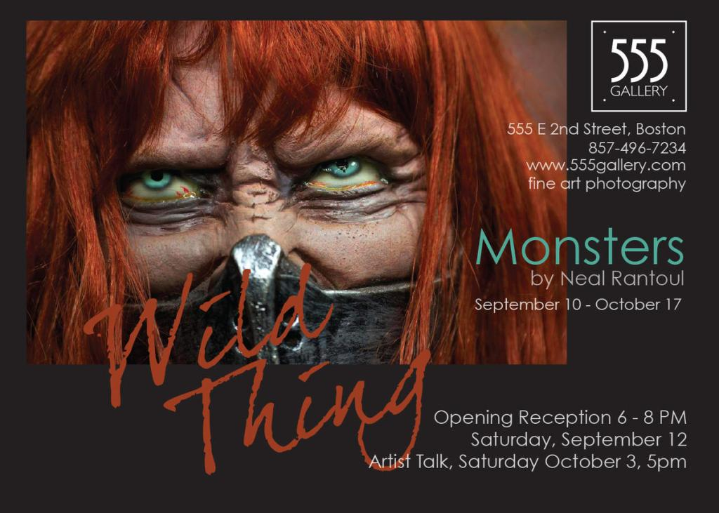 """Neal Rantoul's latest series """"Monsters"""" is featured at 555 Gallery."""
