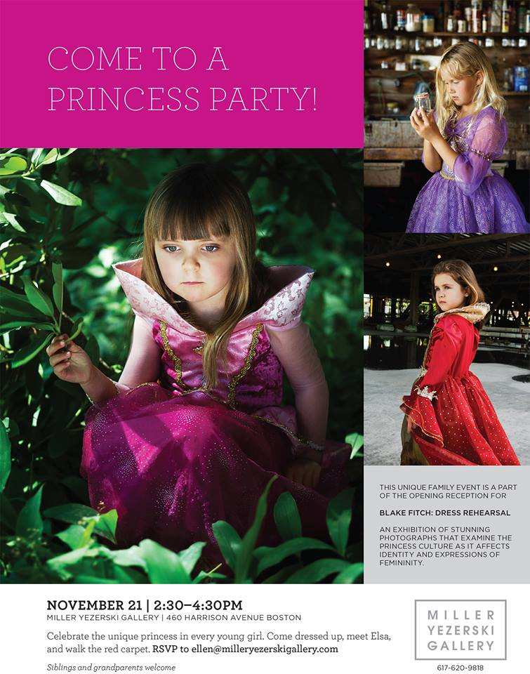 """Princess Party"" with photographs by Blake Fitch at Miller Yezerski Gallery in SoWa, Boston."