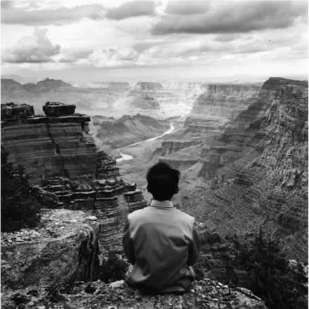 """Grand Canyon, Arizona, 1987"" by Tseng Kwong Chi (courtesy of the artist's Estate and Carroll and Sons Gallery, Boston)."
