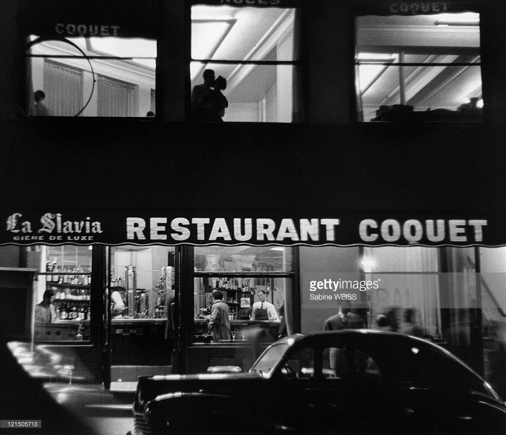 """Coquet, Place Blanche, Paris, 1953"" by Sabine Weiss (courtesy of Holden Luntz Gallery, Palm Beach)."