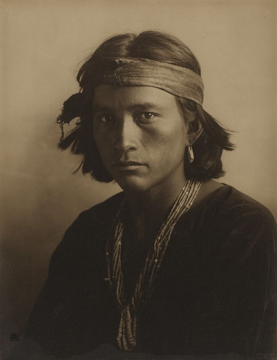 """Navajo Boy, 1907"" gelatin silver print by Carl Moon (courtesy of the J. Paul Getty Museum, Los Angeles)."