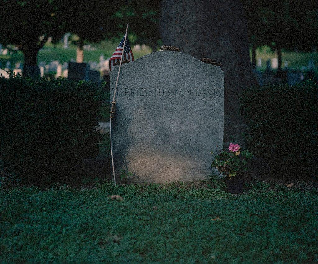 """Harriet Tubman Gravestone, Auburn, NY, 2008"" by Oscar Palacio (courtesy of the artist)."