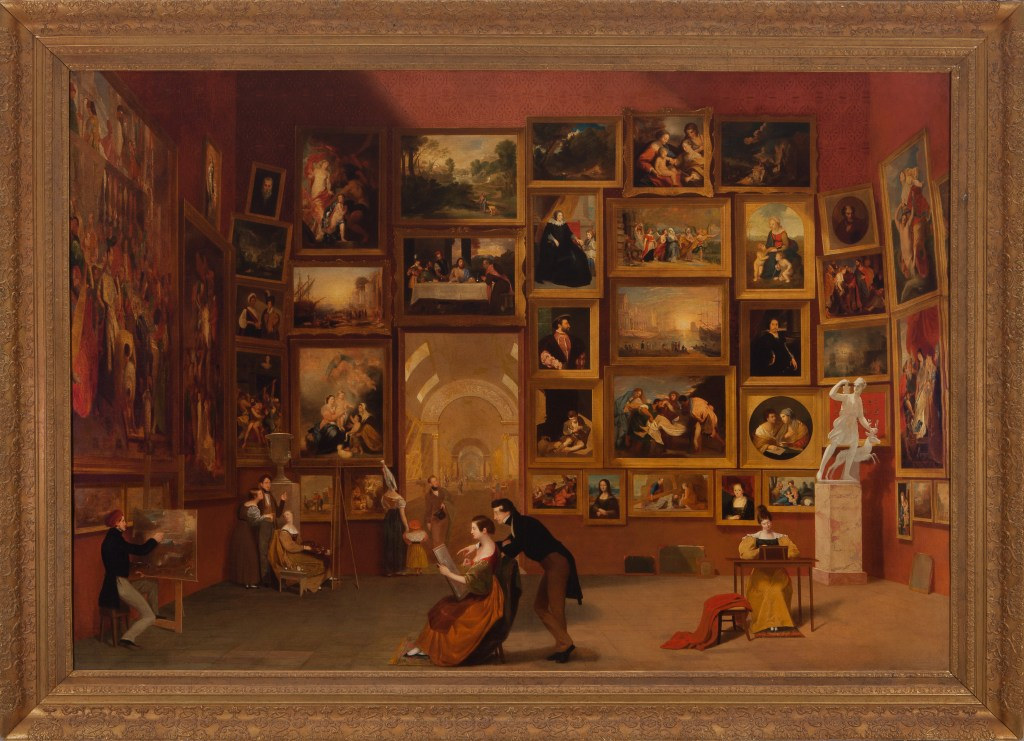 Samuel F. B. Morse (American, 1791-1872), Gallery of the Louvre, 1831-33, Oil on canvas; 73-3/4 in. x 9 ft., Terra Foundation for American Art, Chicago, Daniel J. Terra Collection (1992.51), Photograph: Terra Foundation for American Art, Chicago / Art Resource, NY. (courtesy of the Peabody Essex Museum, Salem, MA).