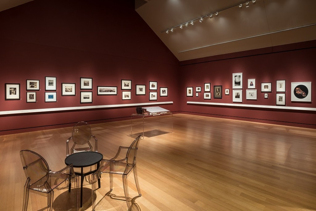 "Installation view of Samuel F.B. Morse's ""Gallery of the Louvre"" and the Art of Invention exhibit currently on view at the Peabody Essex Museum (2016), curated by Sarah Kennel."