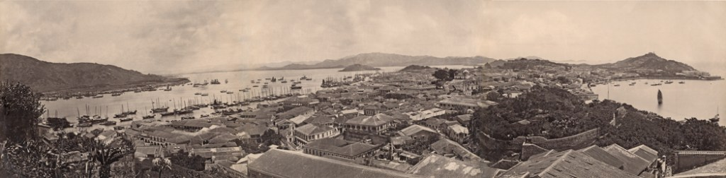 """Panorama of Macao, 1860""-1870's"" albumen prints attributed to ""Artist in Macao"", (courtesy of the Peabody Essex Museum, Salem, MA)."