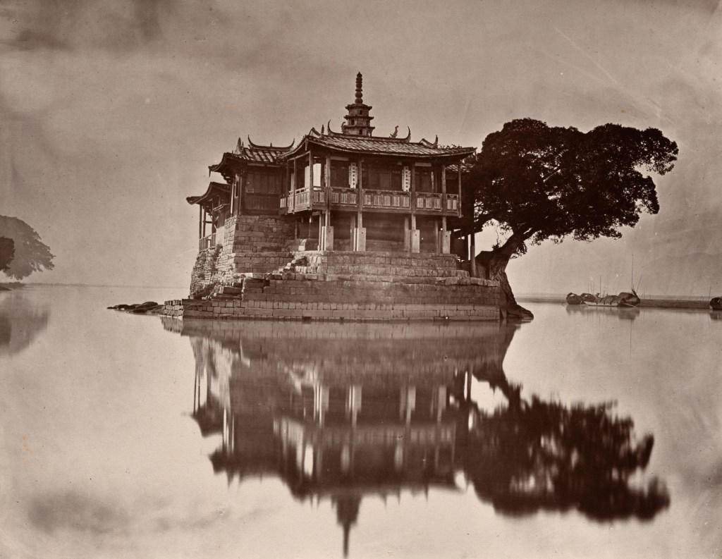 """The Island Pagoda, 1873"" carbon print by John Thomson (United Kingdom, 1827-1921), (courtesy of the Peabody Essex Museum, Salem, MA)."