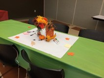 Autumn themed table centerpieces