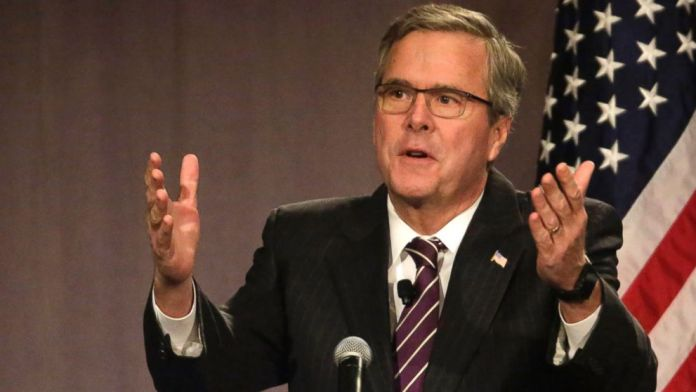 Jeb definitely has a better hair line.