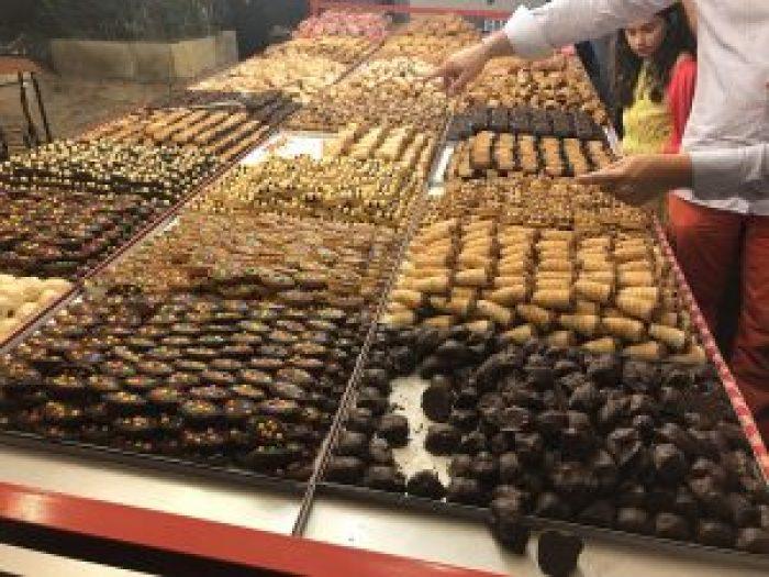Pastry stalls at birgu fest in Three Cities Malta