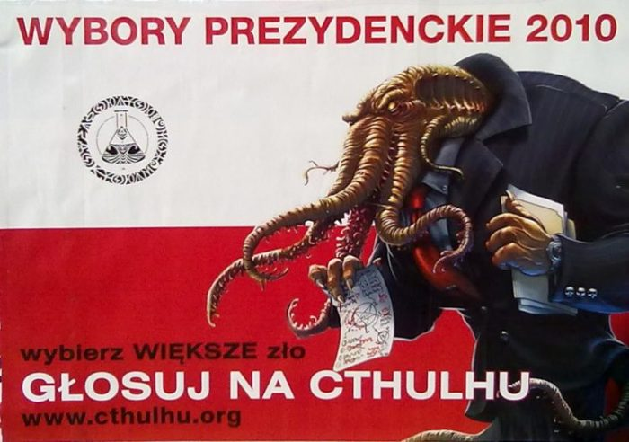 Image result for Cthulhu president parody poland