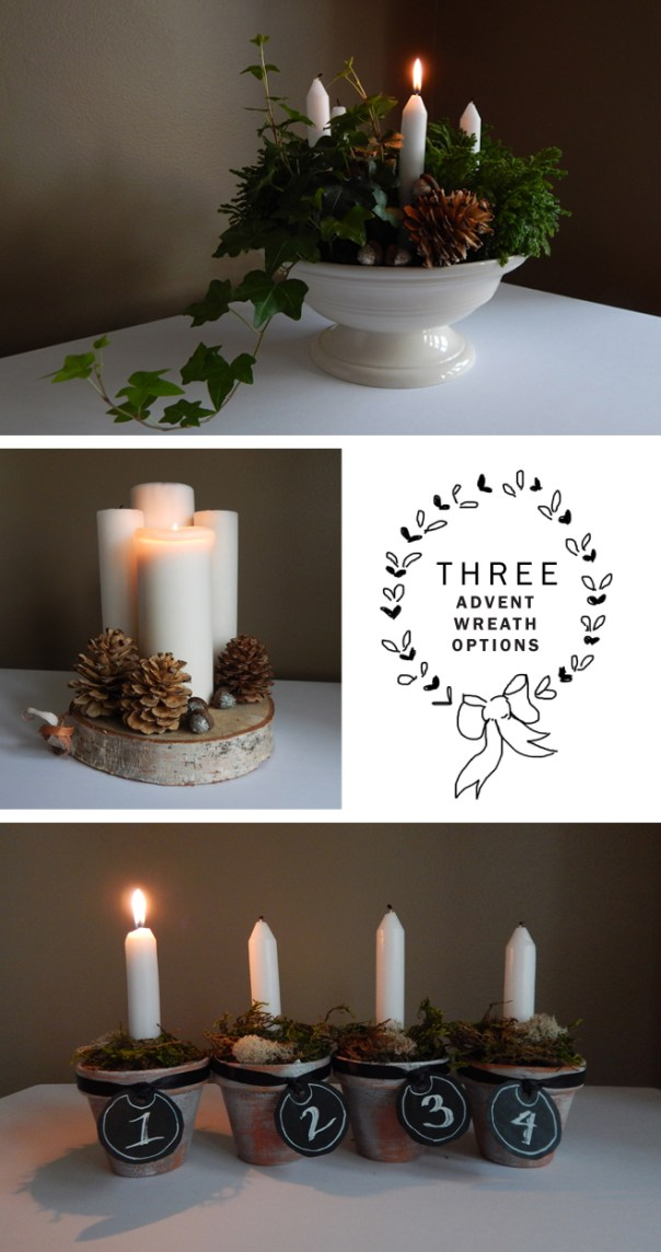 Advent wreath options