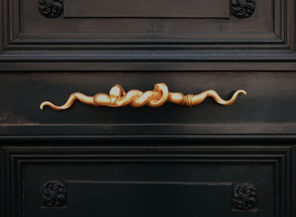 Paris snake doorknob