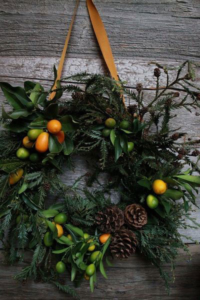 mixed green wreath