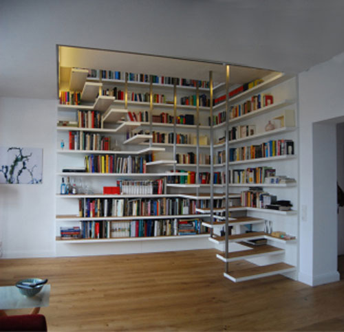 books and stairs