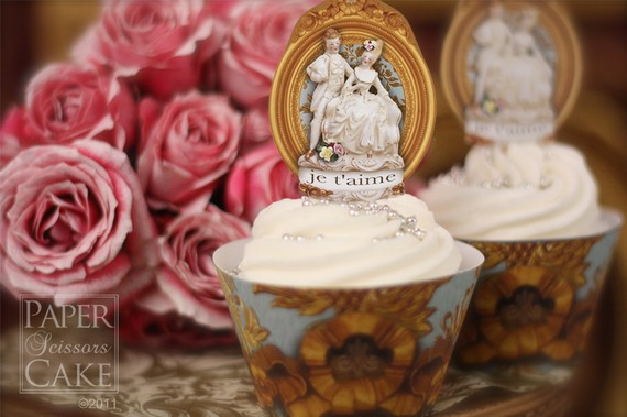 Marie Antoinette Cupcakes Cards And Other Valentines Day