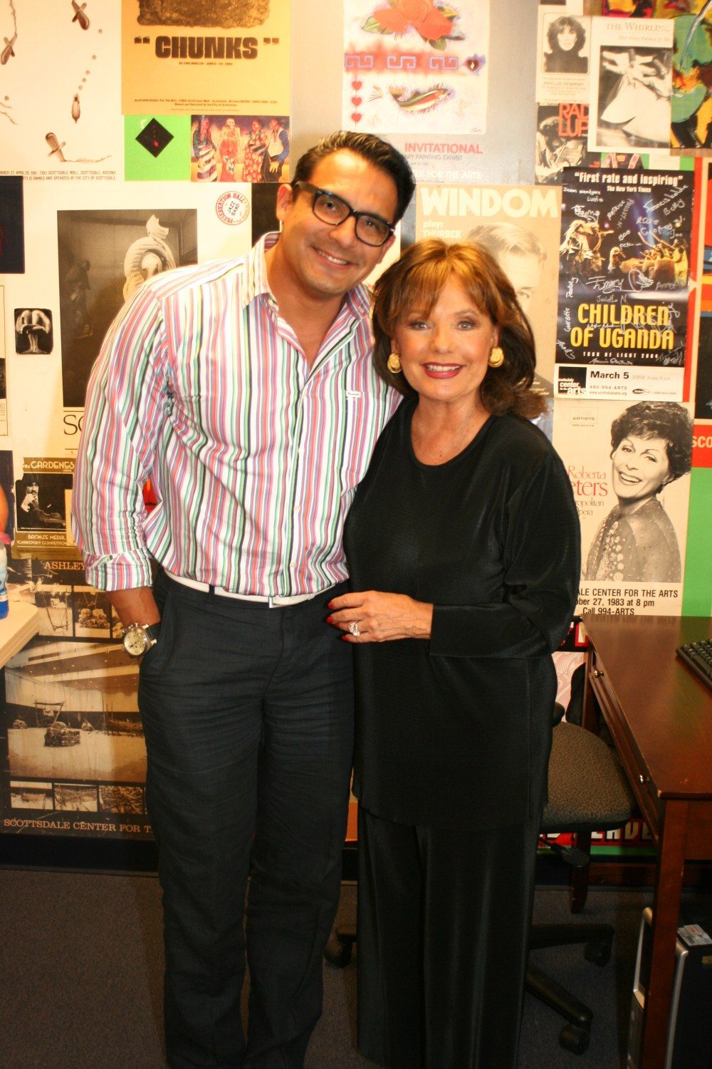 "With Ms. Dawn Wells after ""Loss, Love and What I Wore"""