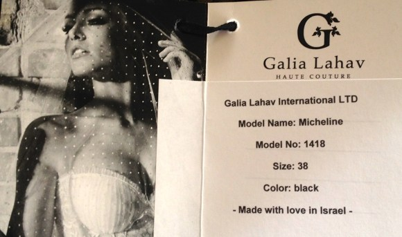 The Official Designer tag by Galia Lahav Haute Couture