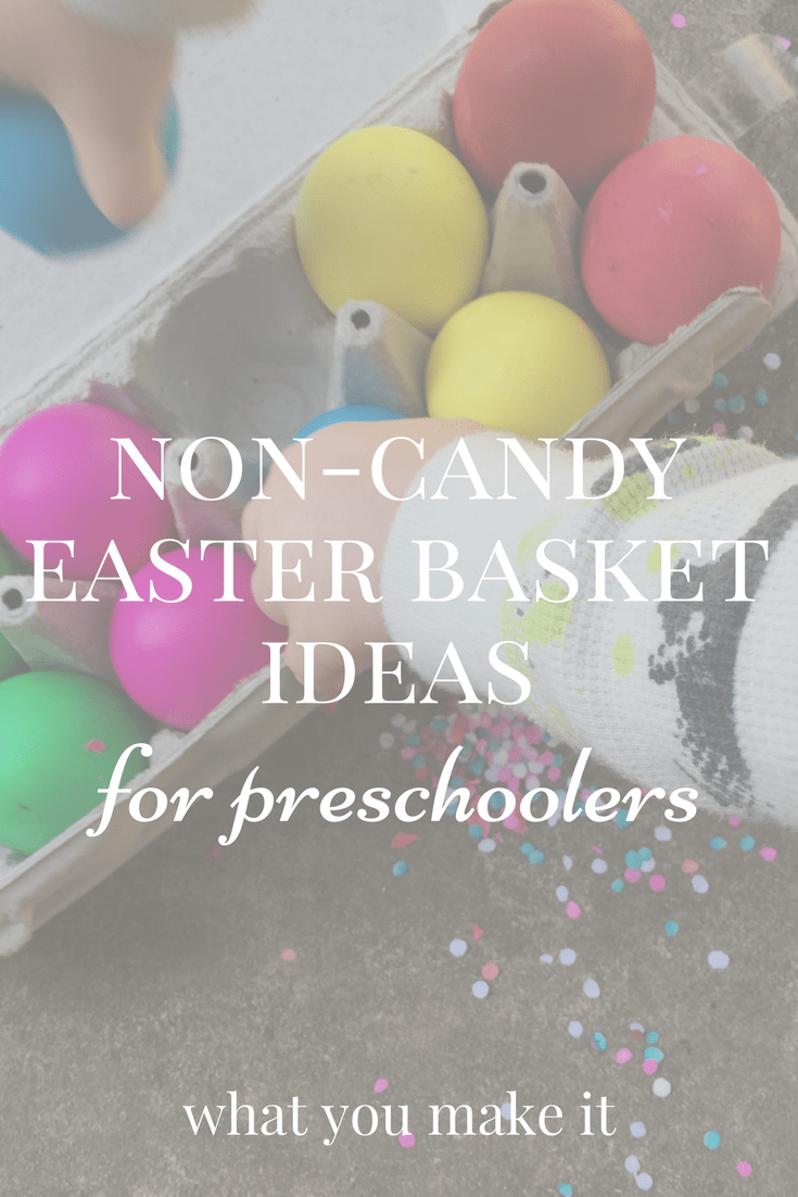 Non candy easter basket ideas for preschoolers what you make it easter is coming and it seems like every kid has the same question what is the easter bunny bringing while we believe that easter is about more than negle Images