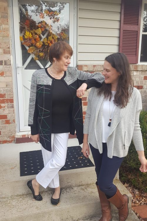 grown-up mom and me style with misook