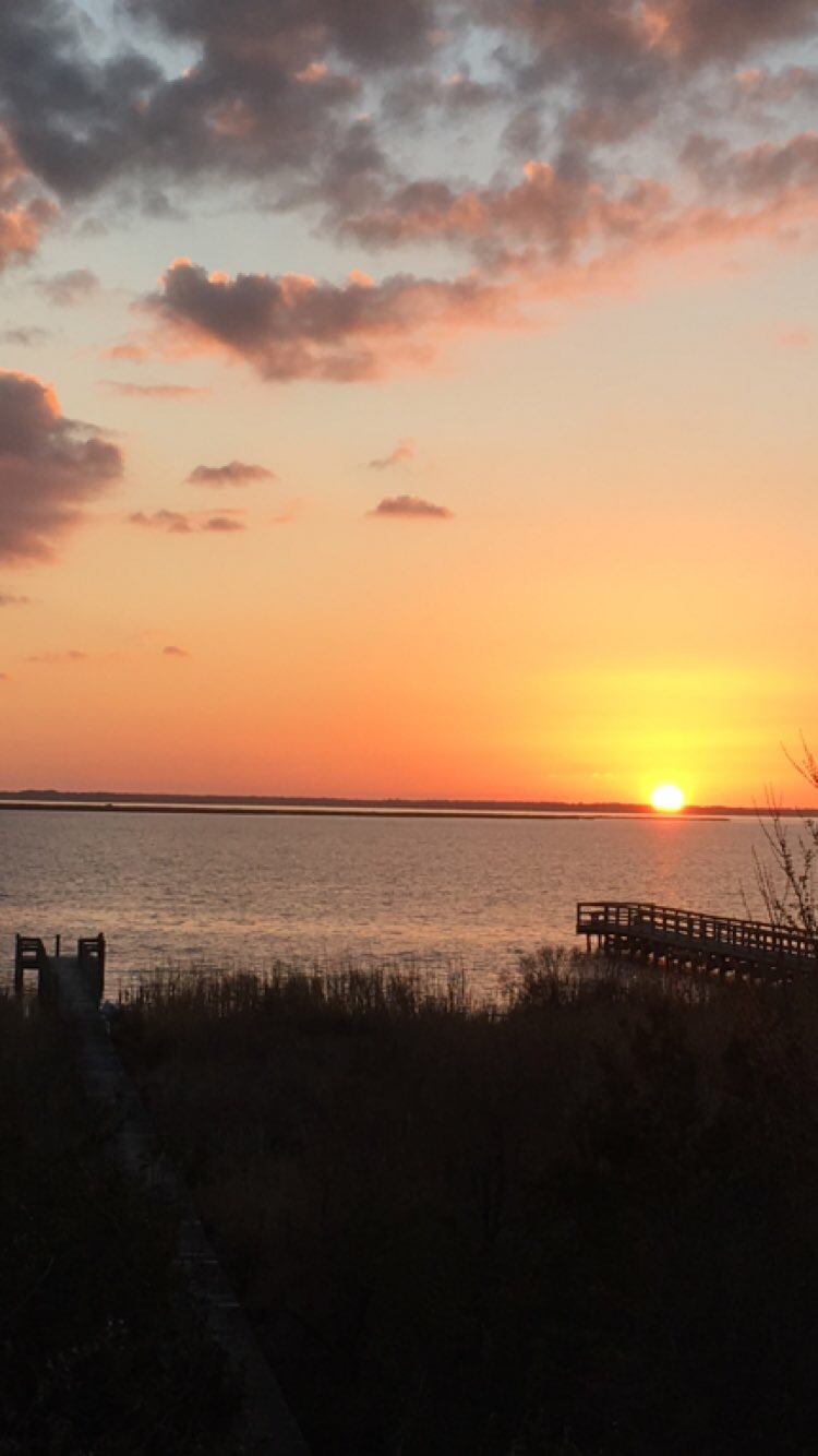 sunset on the sound - pictures from Outer Banks - family beach vacation - What You Make It Blog