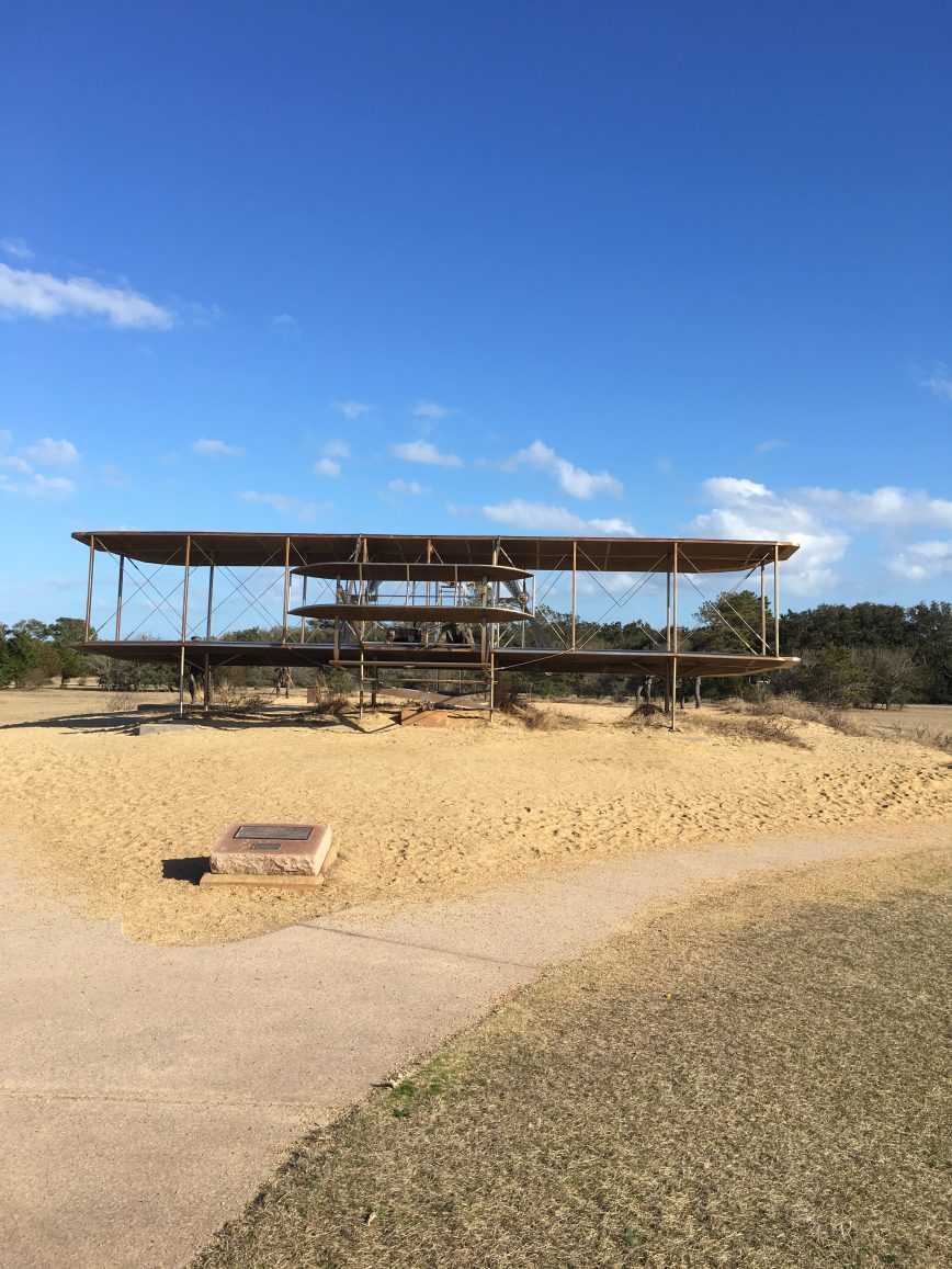 Wright Brothers Memorial - pictures from Outer Banks - family beach vacation - What You Make It Blog