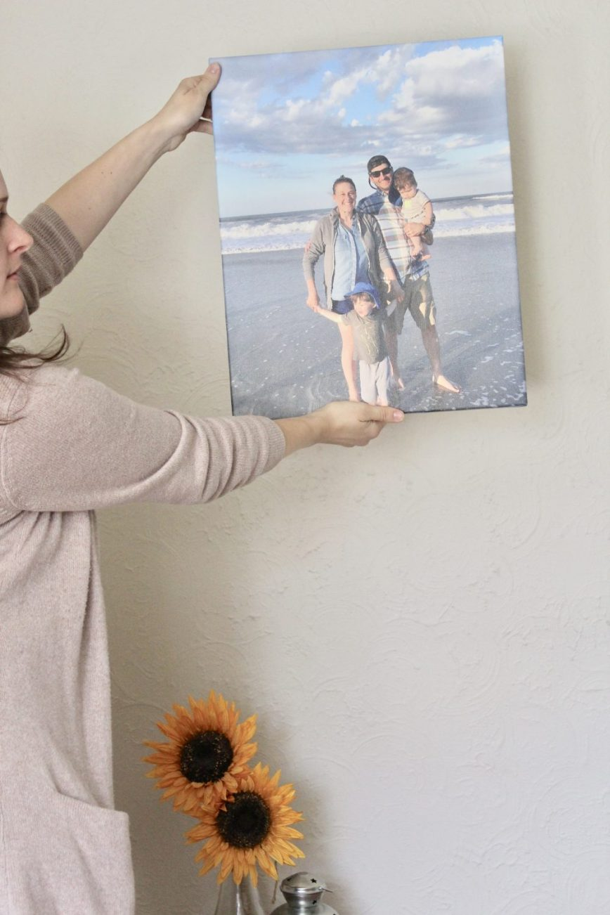 Use the special link in the post to get a free photo canvas with CanvasPeople this month! Just pay shipping - gift ideas - Mother's Day - photos - #spon @canvaspeople - What You Make It blog