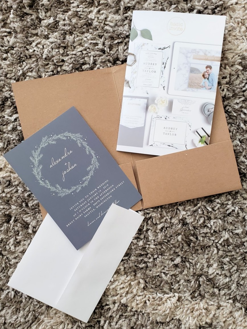 (sponsored) Basic Invite review and coupon code - modern elegant wedding invitations - best wedding invites - wedding website - invitation design printing and ideas - What You Make It blog