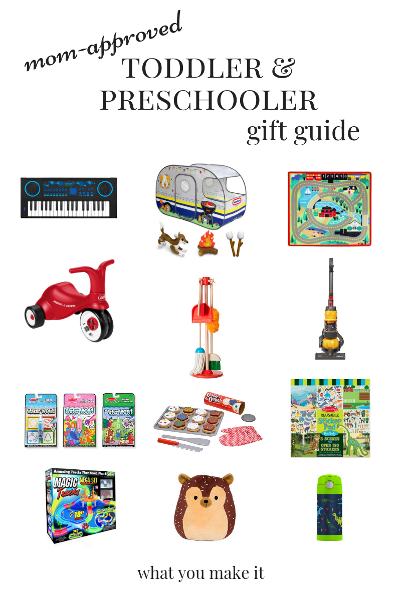best unique gifts for toddlers and preschoolers 2018 - gifts for toddlers and preschoolers who have everything - mom-approved toy gifts - mom blog - What You Make It blog