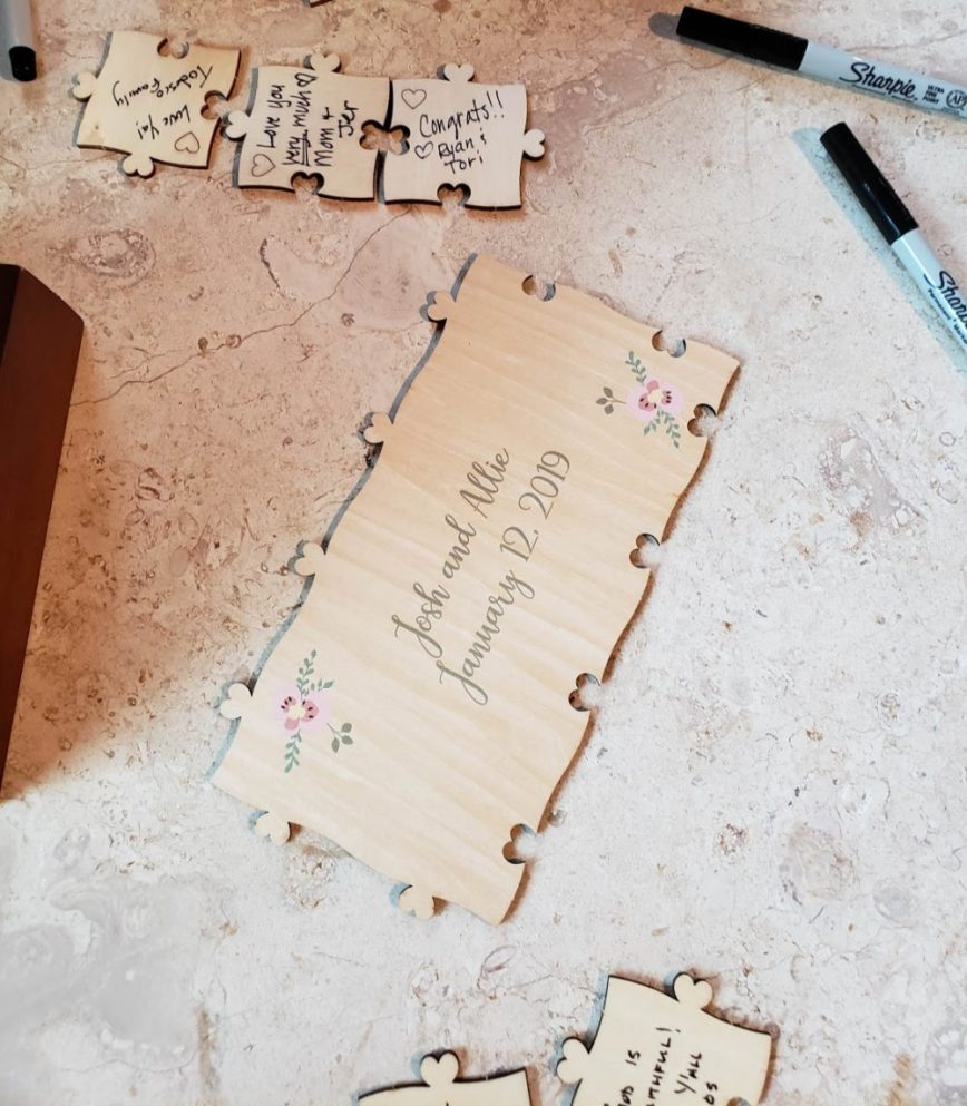 wedding guest book - unique wedding guest book - wedding decor - mom blog - lifestyle blog - What You Make It blog